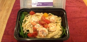 Fettuccine with Shrimp & Spinach